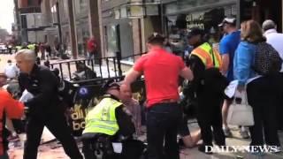 Scene of chaos as bomb detonates at Boston Marathon