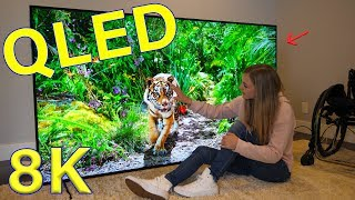Download Is QLED better than OLED? - Unboxing a Massive QLED 8K TV! Mp3 and Videos