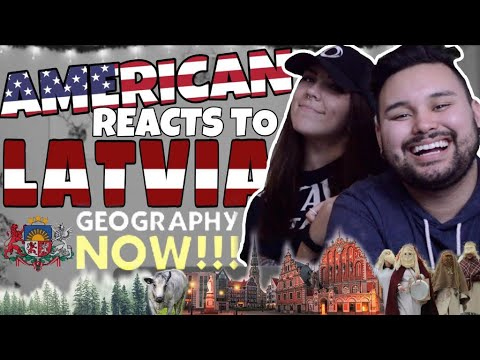 American REACTS  Geography Now Latvia