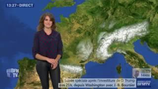 LA METEO de FANNY AGOSTINI le 2017 01 20 sur BFM TV