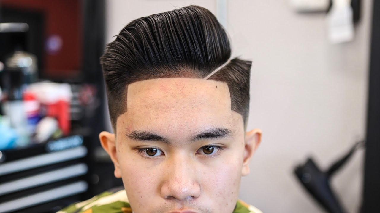 mens haircut tutorial: combover | blowdry & style | low fade
