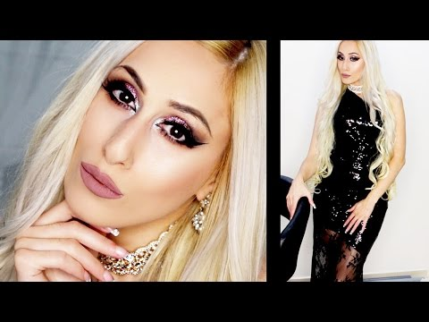 ❄️  Glam Winter Wedding Guest Makeup Tutorial! + Outfit || DYNA