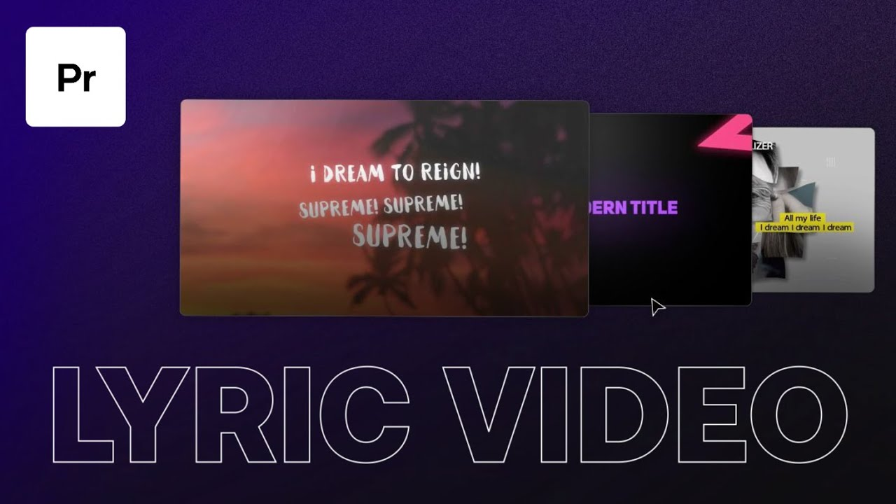 Download How To Easily Create A Lyric Video in Premiere Pro