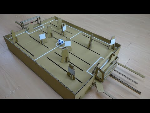 How to make Association Football games made from corrugated cardboard
