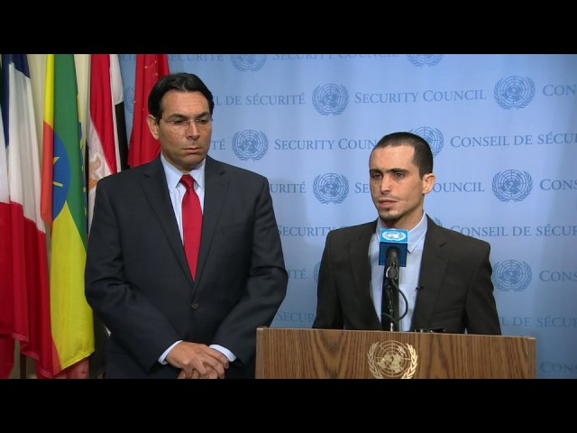 Danny Danon (Israel) on the situation in the Middle East - Security Council Stakeout (25 July 2017)