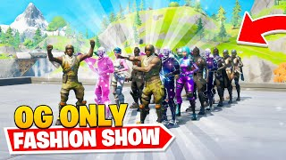 the MOST *OG* Fortnite FASHION SHOW...