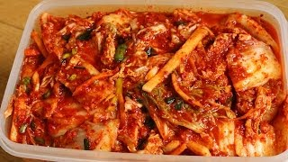How to make Easy Kimchi (막김치)(How to make easy kimchi (