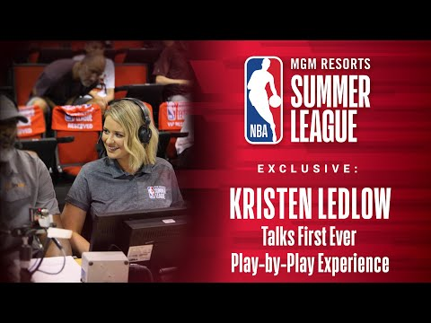 Kristen Ledlow Talks About Her Commentary Experience at NBA Summer League