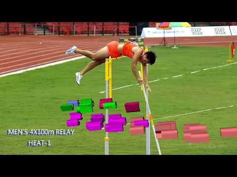 MEN'S  4X100m  RELAY HEAT-122nd ASIAN ATHLETICS CHAMPIONSHIPS-2017