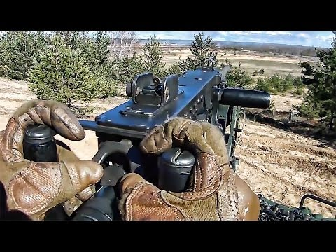 Marines In Latvia Open Fire With .50 Cal Machine Guns