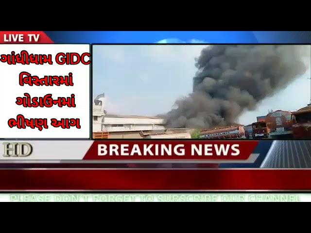 Gandhidham : ગાંધીધામ વિસ્તારમાં GIDC માં આવેલ કપડાં ના ગોડાઉનમાં ભીષણ આગ