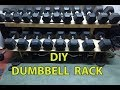DIY Dumbbell Weight Rack Storage from Wood