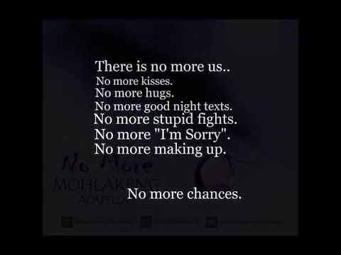 No More by Mohlakeng Acapellas