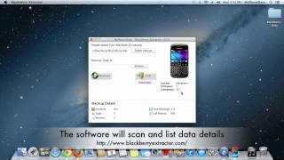 Blackberry Extractor - extract and recover blackberry data
