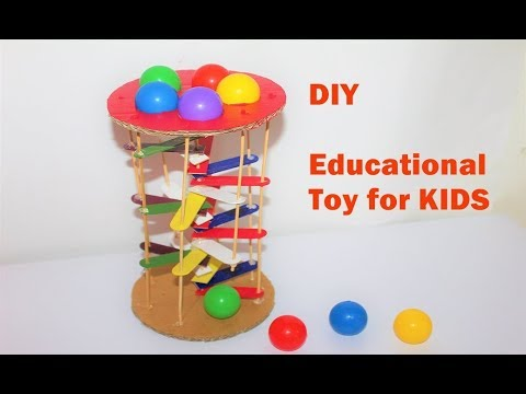 How To Make A Educational Toy For Kids Learning Colours Youtube