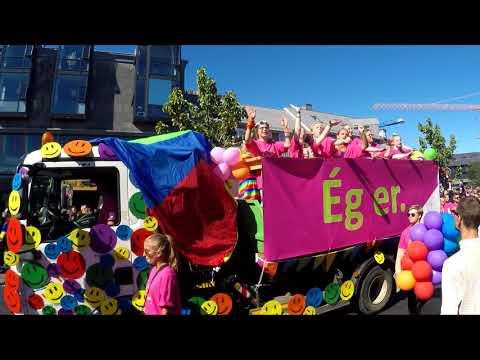 Reykjavik Pride Parade 2017 HD