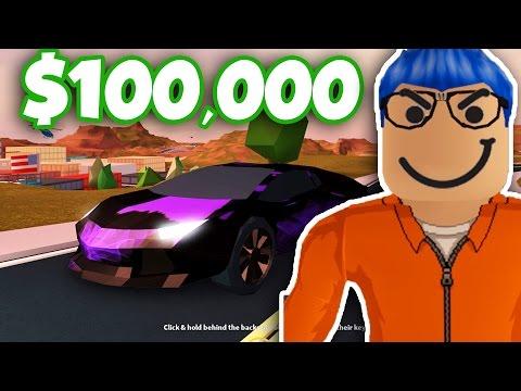 I GOT THE $100,000 SUPERCAR! LAMBO! (Roblox Jailbreak)