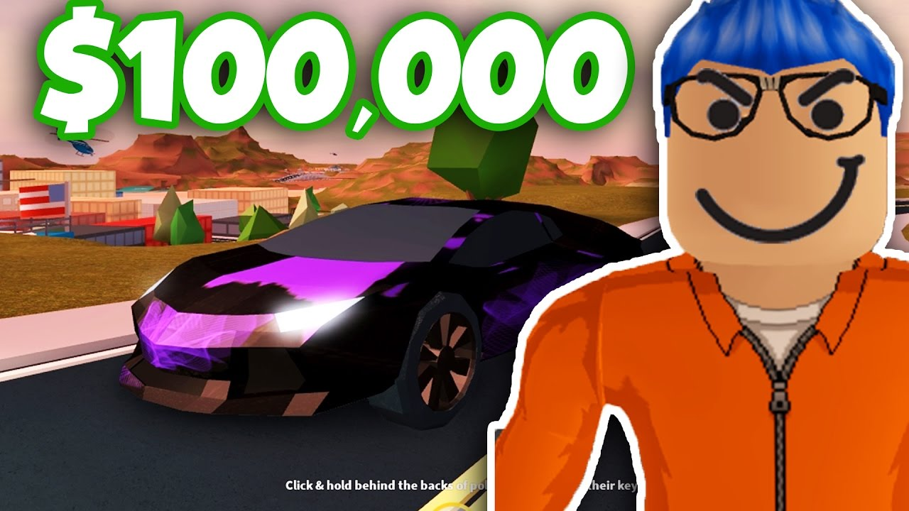 I Got The 100000 Supercar Lambo Roblox Jailbreak Youtube