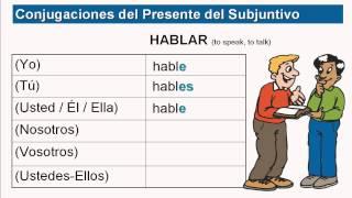 present subjunctive part 5 conjugating ar er ir verbs