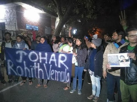 JNU Students Pay Tribute to Rohith Vemula