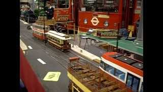 Model Trams at the London Transport Museum Acton Depot