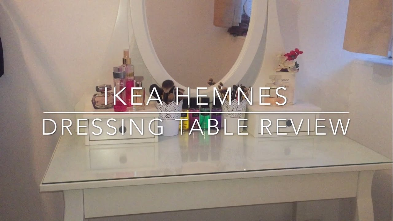 Ikea Hemnes Dressing Table Review Amp Makeup Collection