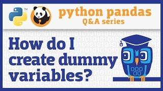 How do I create dummy variables in pandas?