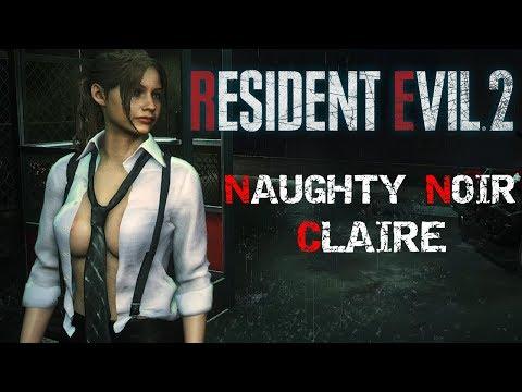 Claire Naughty Noir Mod Resident Evil 2 Remake Cinematics & Gameplay (1440p60)