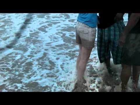 tourist at Ghana beach,labadi accra