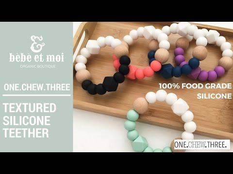 Textured Silicone Teether by ONE.CHEW.THREE.  | Bebe et Moi Mother & Baby Organic Boutique