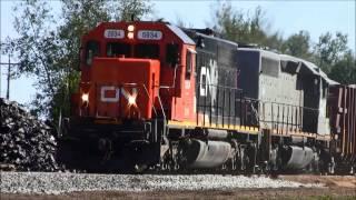 Herzog Ballast Train Dumping Ballast on The Barron Sub