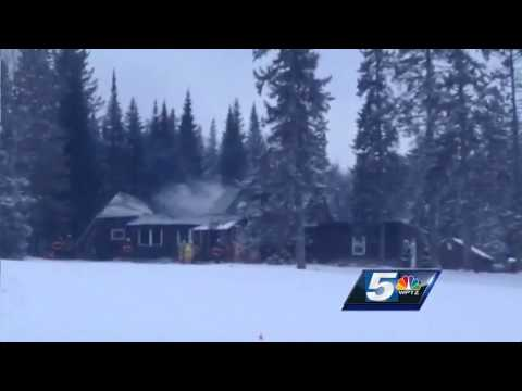 Raw Video: Fire damages Mountain Lake Academy building