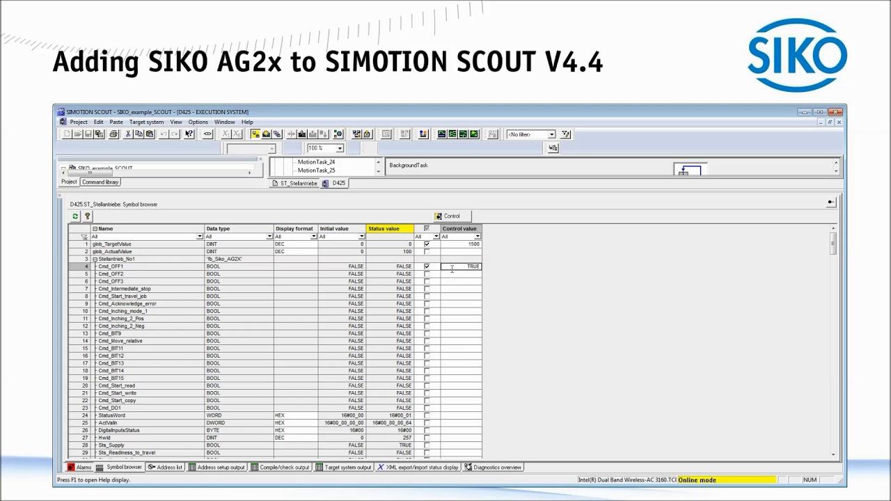 SIKO - Adding SIKO AG2x to SIMOTION SCOUT V4 4