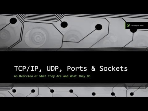 TCP, IP, UPD, Sockets, And Ports - A Brief Explination