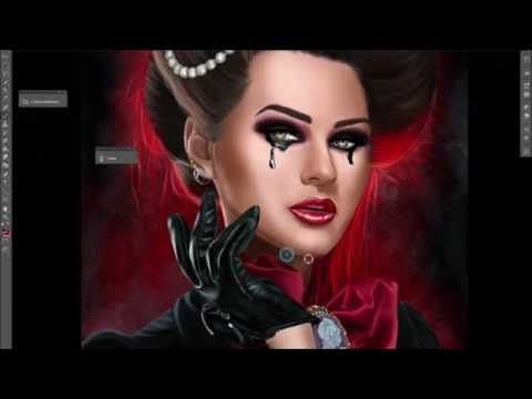 How to paint a gothic portrait in photoshop