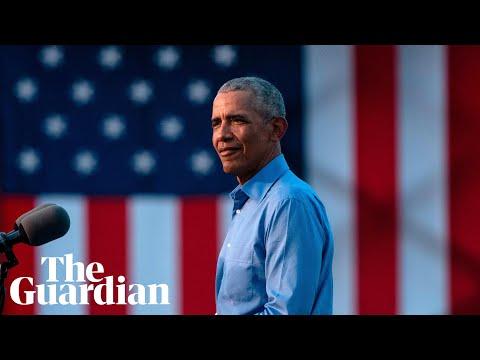 Barack Obama likens Donald Trump to 'crazy uncle' in Joe Biden rally speech