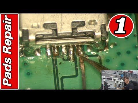 MOBILE REPAIRING COURSE #1 Charging Connector Pads Repair