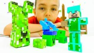 Секреты игры Майнкрафт - Стив на Арене с мобами Minecraft!