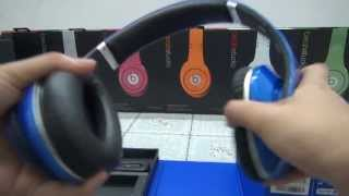 New  Beats By Dr Dre Dark  Blue Studio Headphone With Noise Cancelling