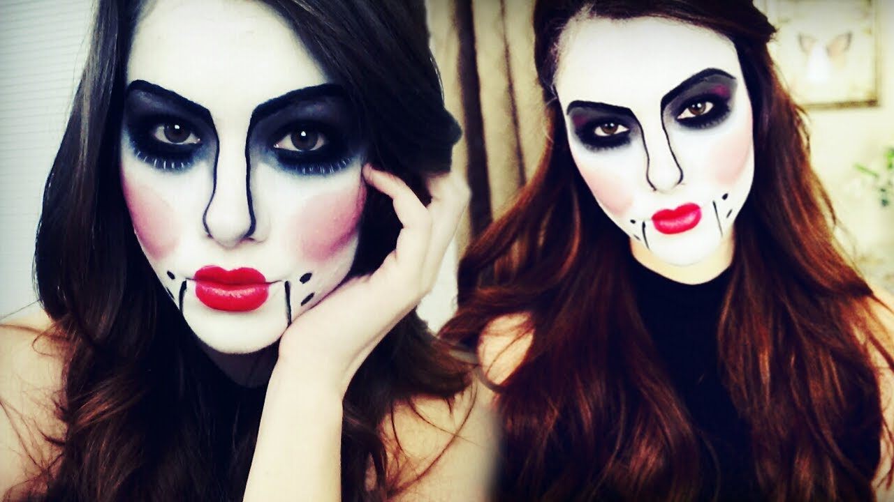 Ventriloquist Doll Halloween Makeup Tutorial - YouTube