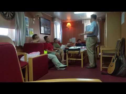 CMA CGM Thames ship Gospel meeting 2
