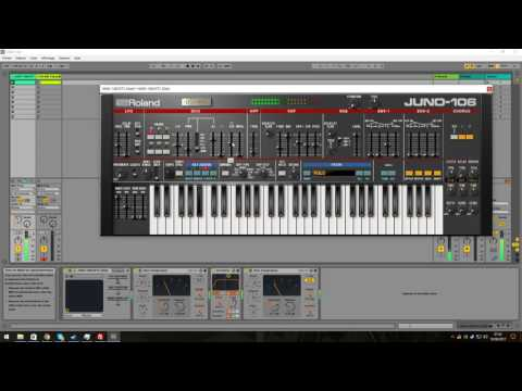 Roland Juno106 VST doing Daft Punk  Rollin & Scratchin