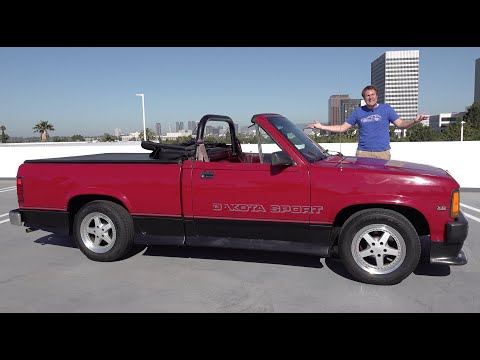 The Dodge Dakota Convertible Was a Bizarre Drop-Top Truck