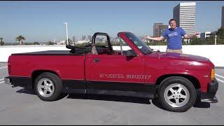 homepage tile video photo for The Dodge Dakota Convertible Was a Bizarre Drop-Top Truck