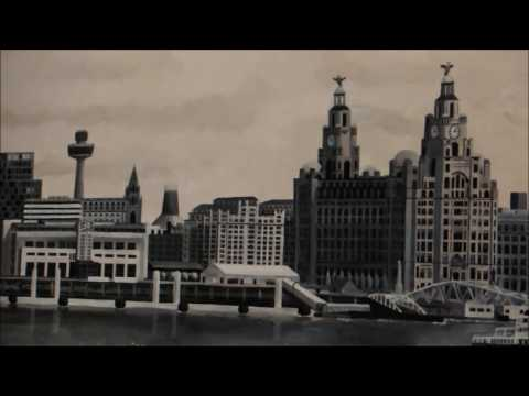 Liverpool Waterfront Wall Mural Time Lapse by Paul Curtis