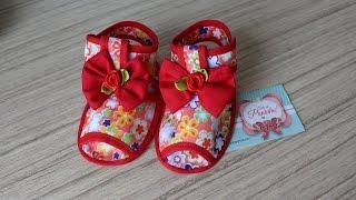 Sandália para bebê passo a passo