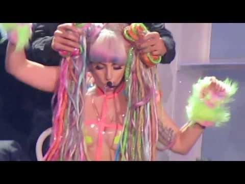Lady Gaga on stage costume change! ArtRAVE Atlanta GA