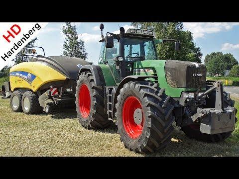 Pressing bales -