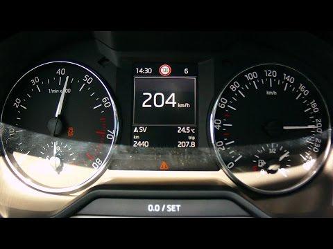 Skoda Octavia 1,0 TSI - acceleration 0-200 km/h, engine sound