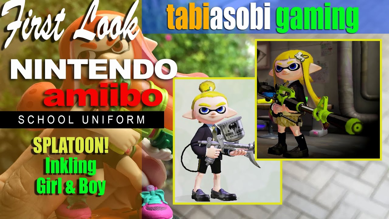 Splatoon Amiibo Inkling Girl Boy School Clothes Hero Mode Charger